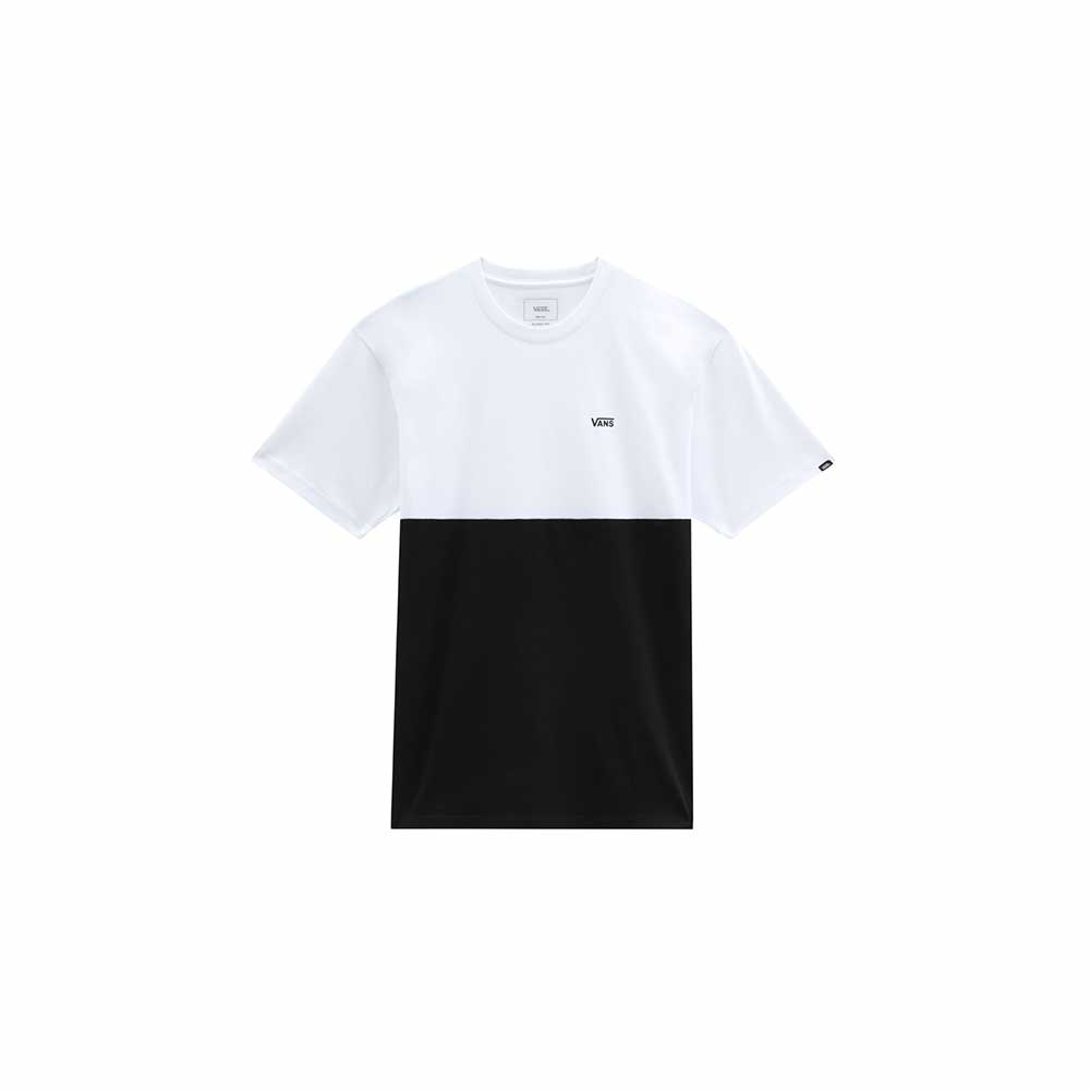 T-Shirt Vans man Colorblock Tee Black White