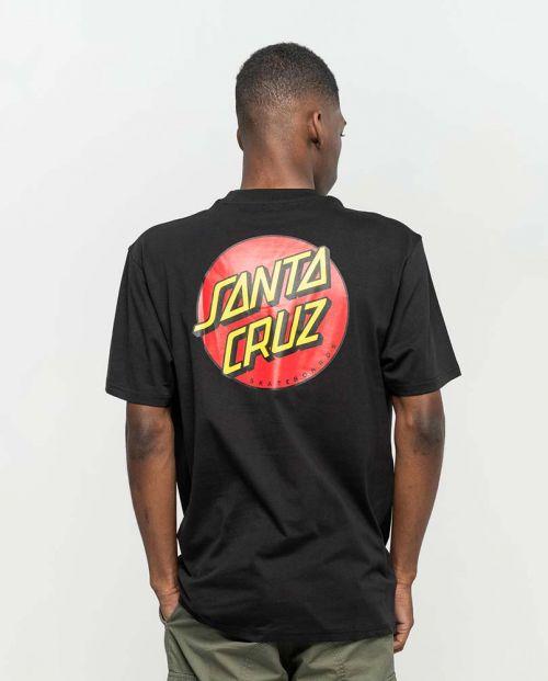 T-shirt Santa Cruz Classic Dot Chest Black