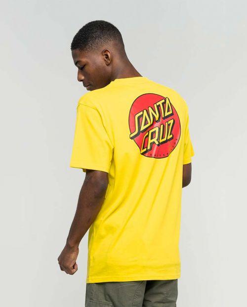 T-shirt Santa Cruz Classic Dot Chest Blazing Yellow