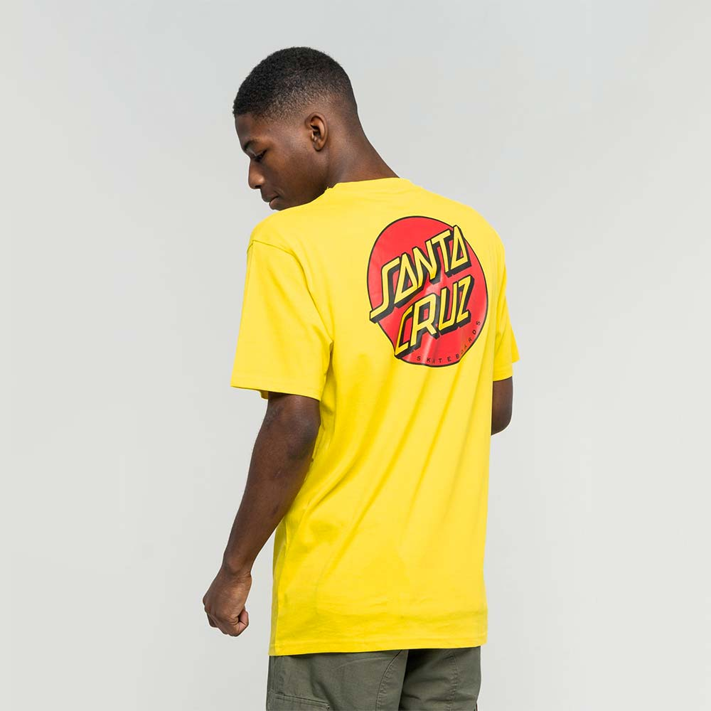 T-shirt Santa Cruz Classic Dot Chest Blazing Yellow