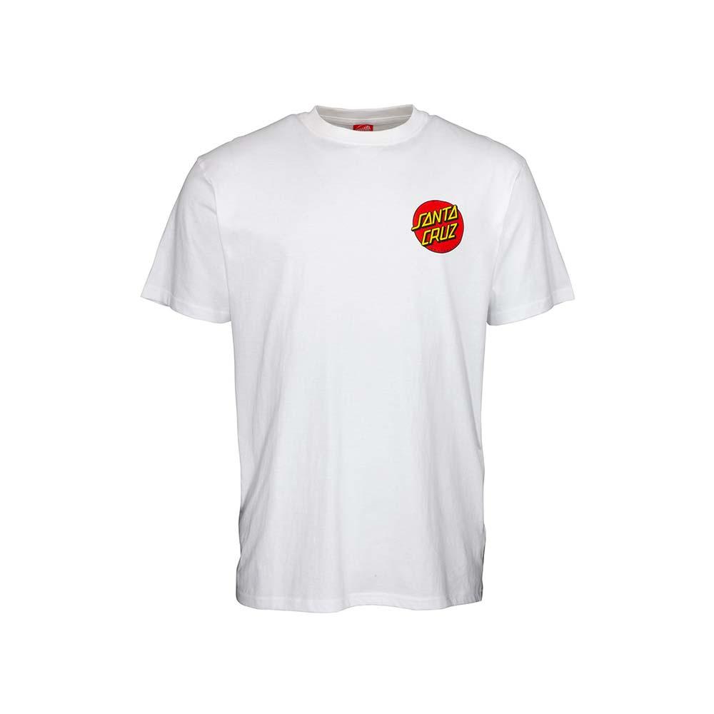 T-shirt Santa Cruz Classic Dot Chest White