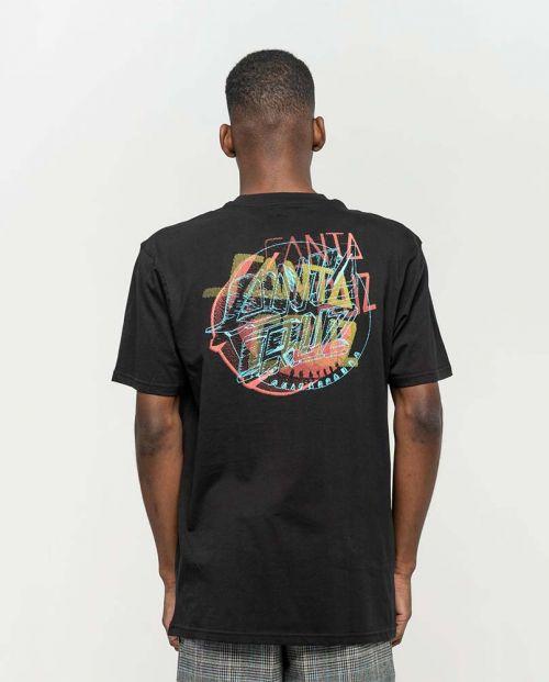 T-shirt Santa Cruz No Pattern Dot Black