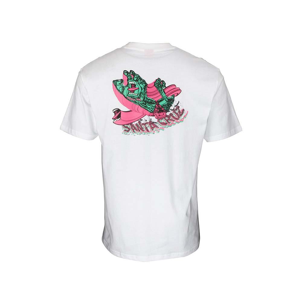 T-shirt Santa Cruz No Pattern Screaming Hand White