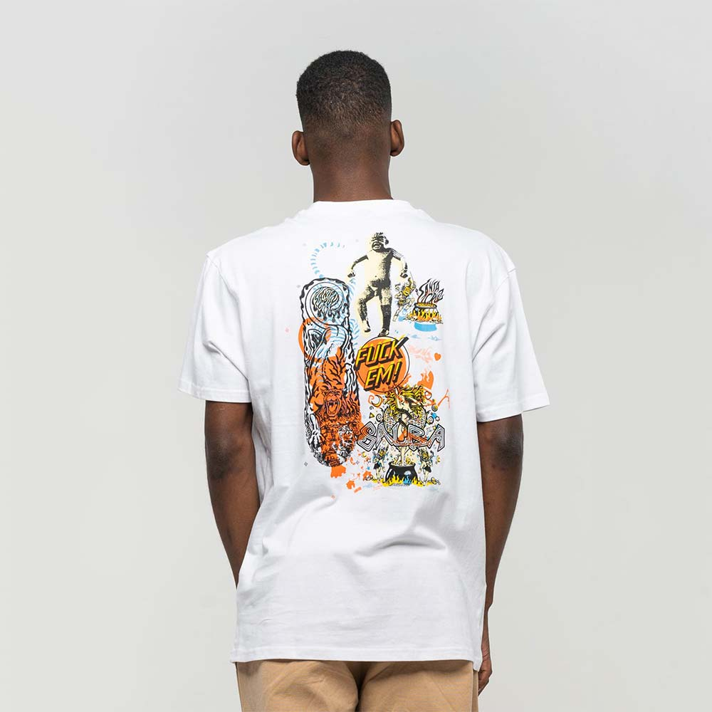 T-shirt Santa Cruz Salba Archive White