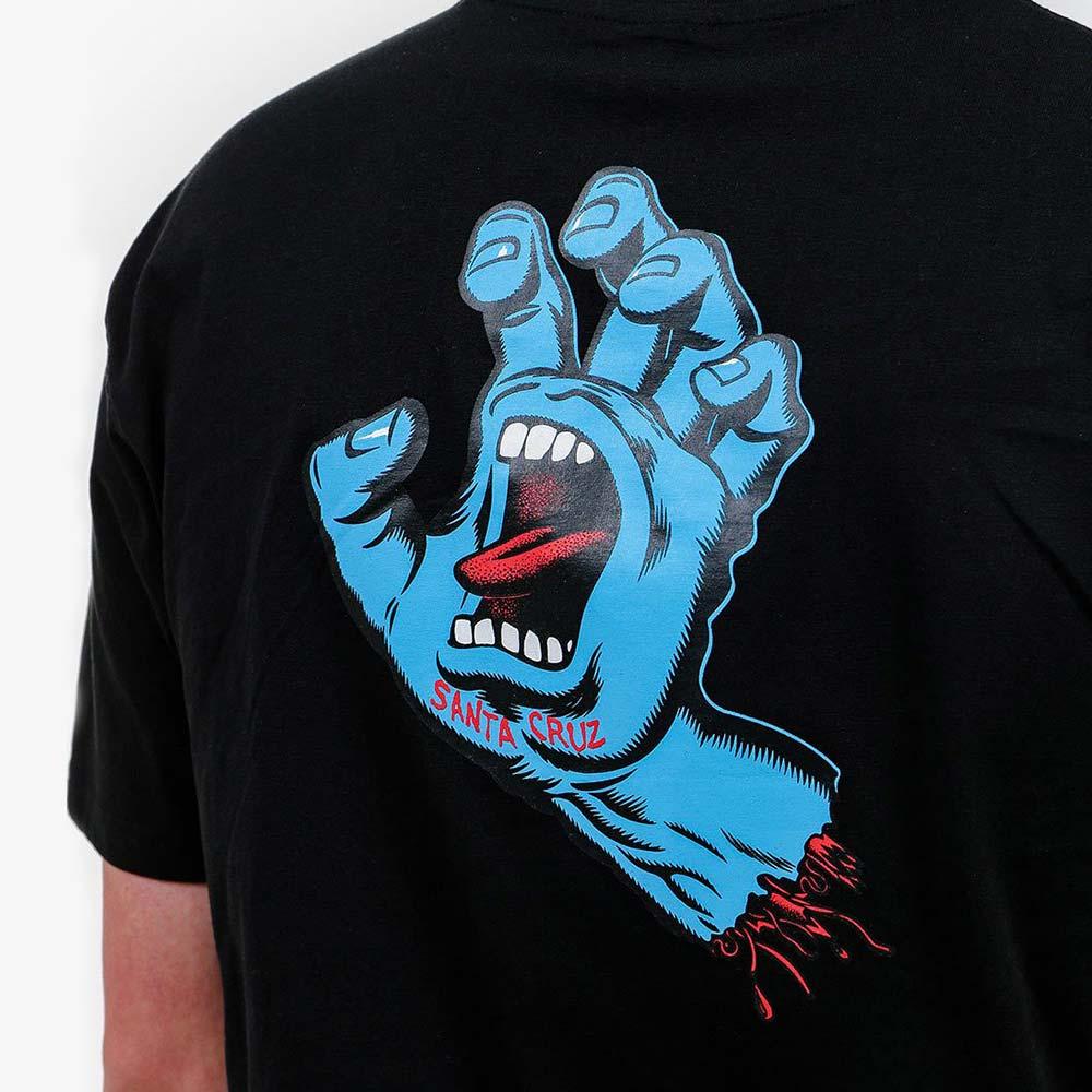 T-shirt Santa Cruz Screaming Hand Chest Black