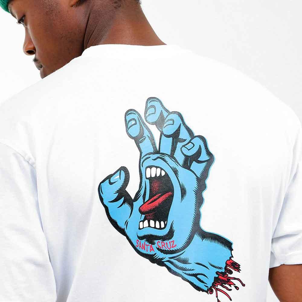 T-shirt Santa Cruz Screaming Hand Chest White 3
