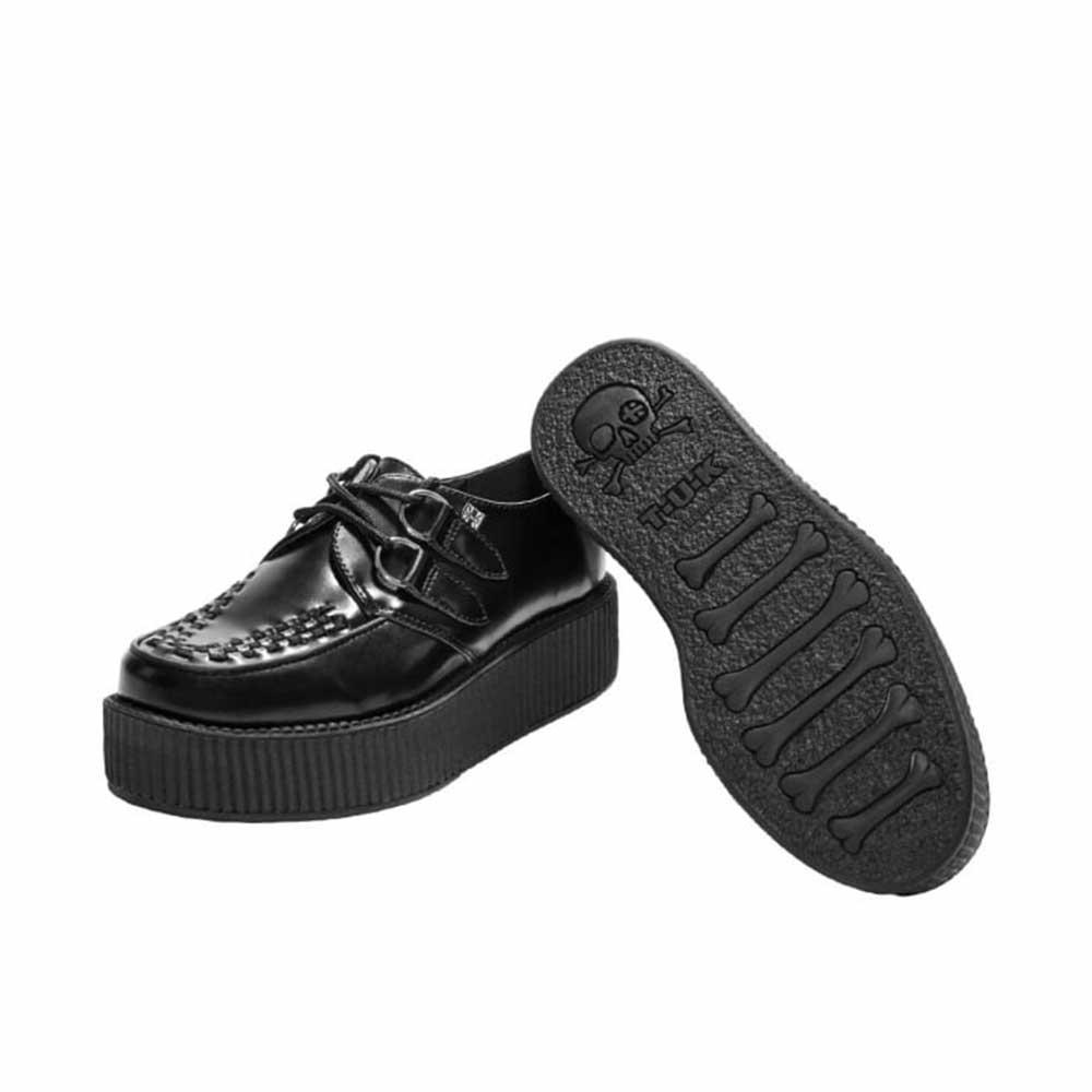 TUK Viva Mondo Creeper Black Leather