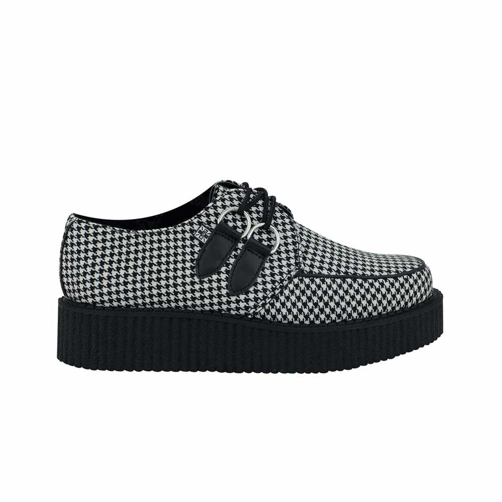 TUK Creepers Houndstooth Round Toe Low Sole