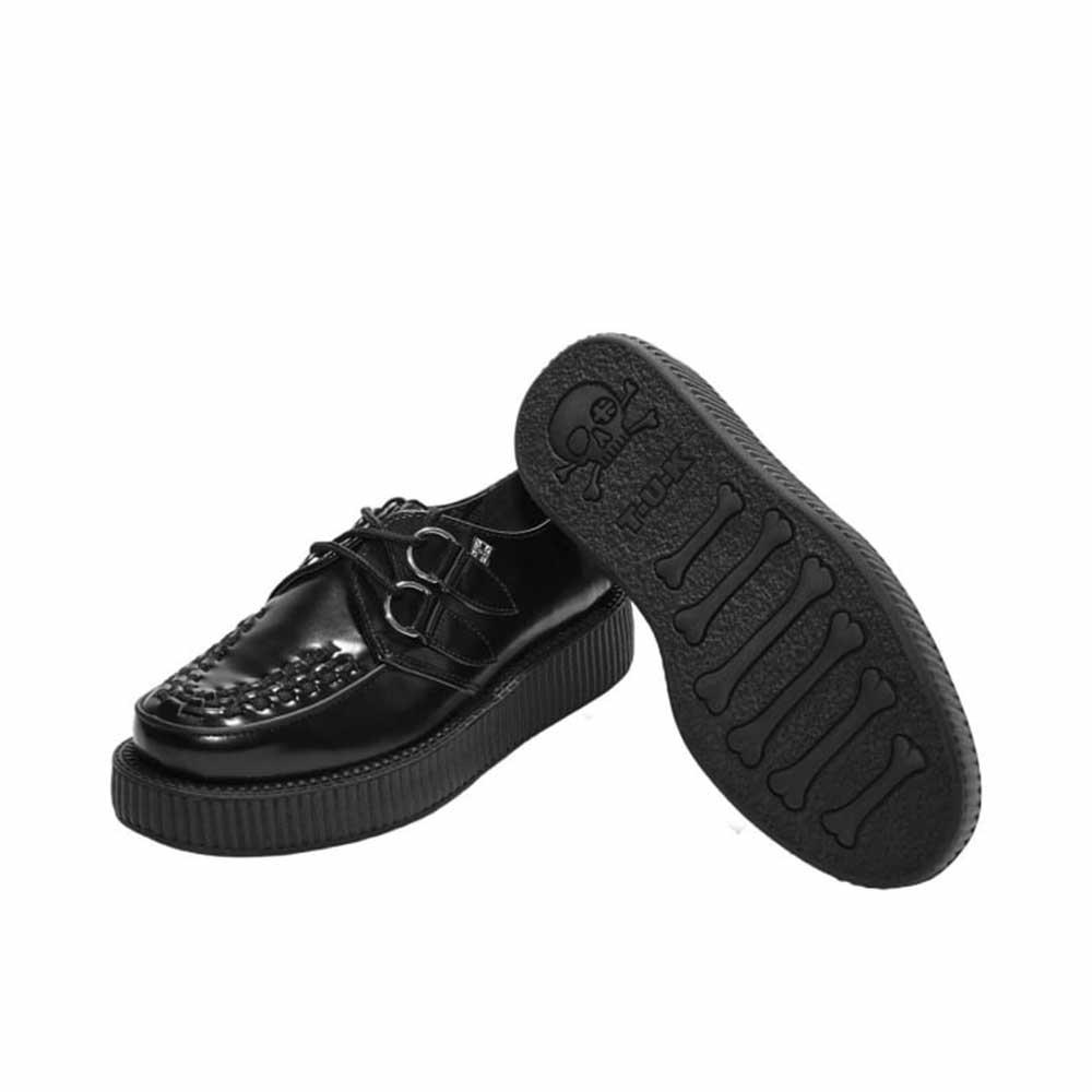 TUK Viva Low Sole Creeper Black Leather