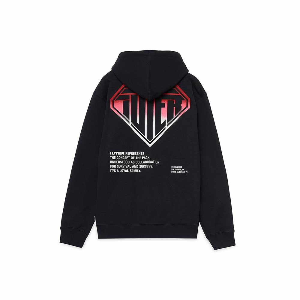 Felpa Iuter Double Logo Zip Hoodie Black