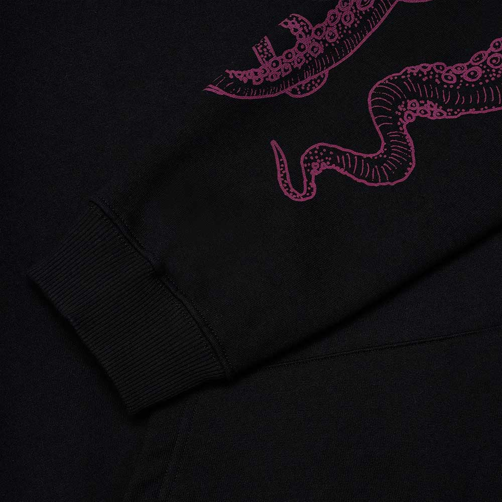 Felpa Octopus Letterz Logo Hoodie Black