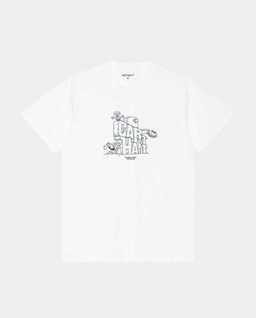 S/S Stoneage T-Shirt White Eucalyptus