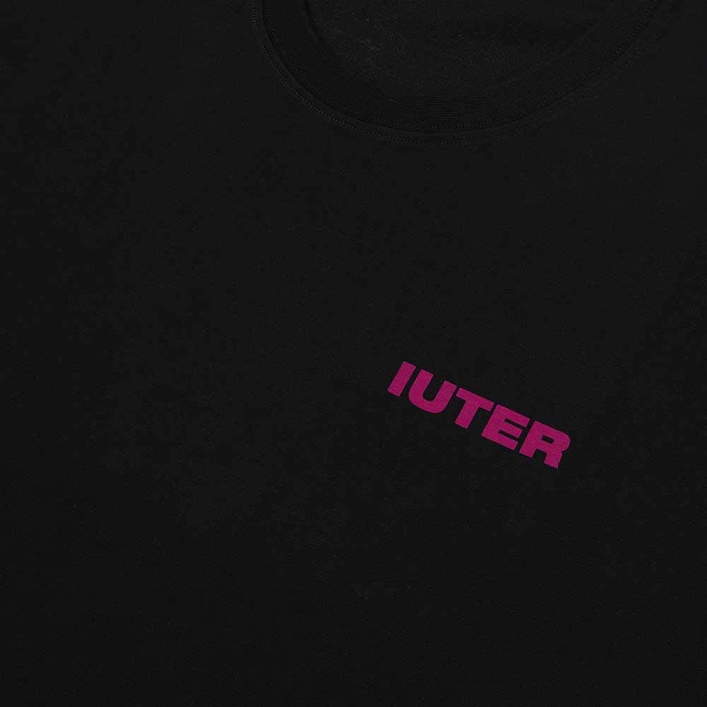 T-Shirt Iuter Double Logo Black