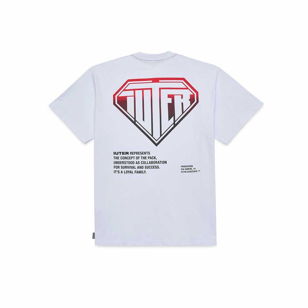 T-Shirt Iuter Double Logo White