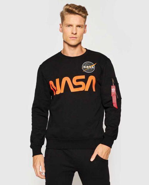 NASA Reflective Sweater Black Orange