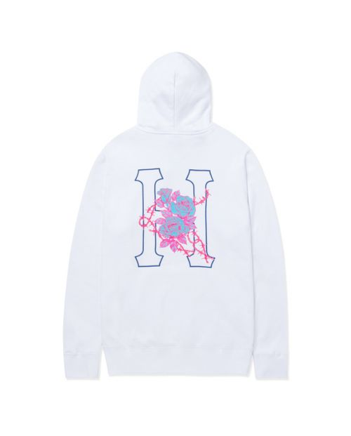 Barb Wire Classic H P/O Hoodie White