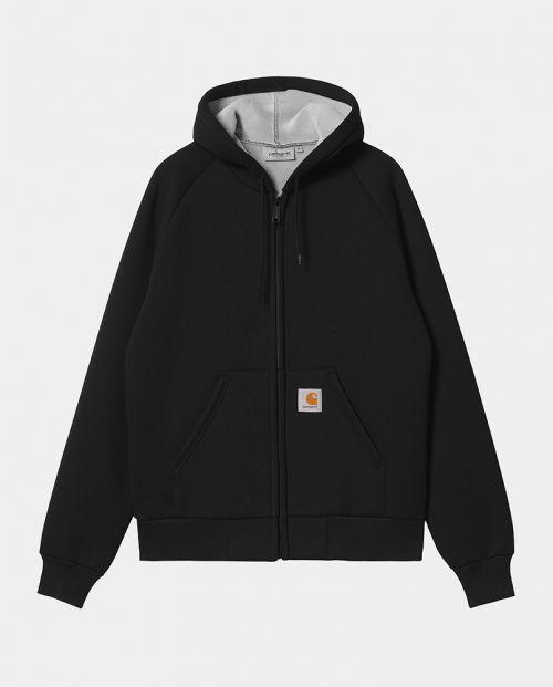 Car-Lux Hodded Jacket Black Grey