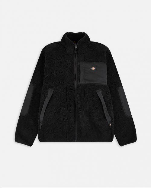 Dickies Red Chute Sherpa Jacket Black