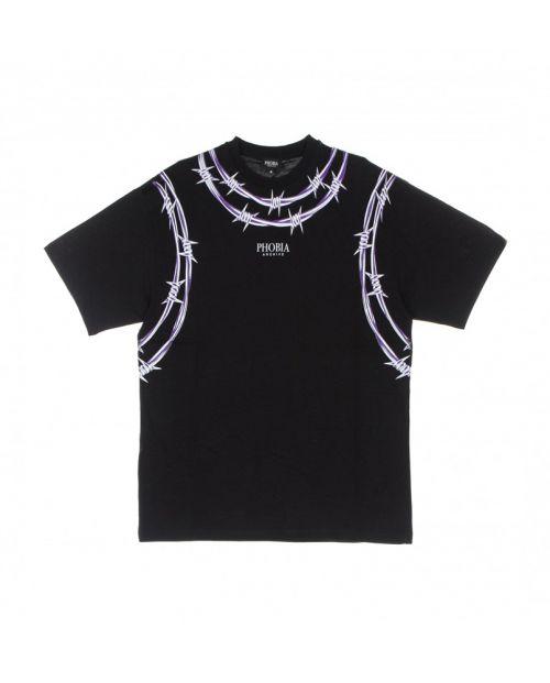 Phobia T-Shirt Black Purple Barbed