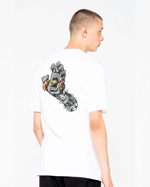 Pool Snakes Hand T-shirt White