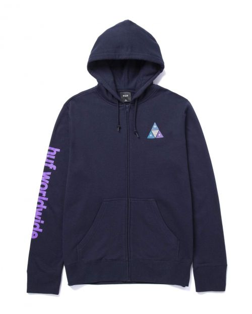 Prism TT Full Zip Hoodie Navy Blazer