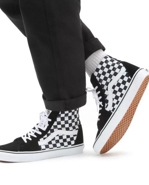 Sk8-Hi Checkerboard Black True White