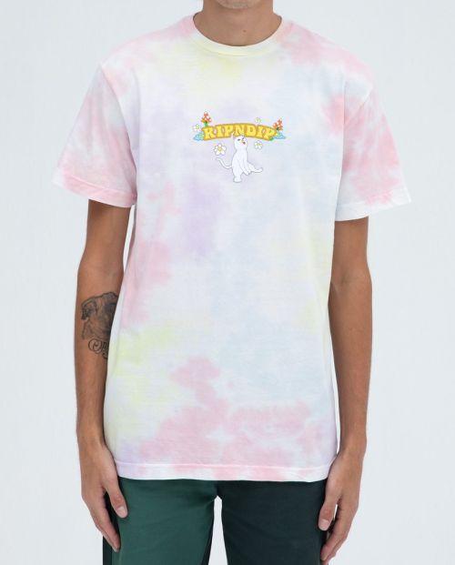 Cloud Sixty Nine Tee Peach Lavander Tie Dye