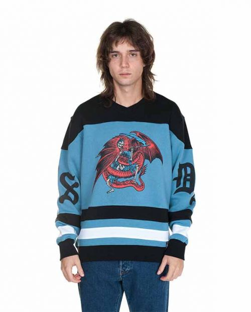Hockey Crewneck Trapped Black Blue