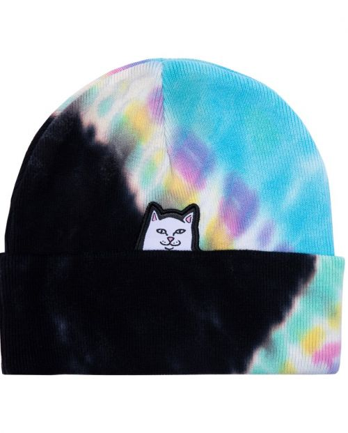 Lord Nermal Beanie Black Rainbow Tie Dye