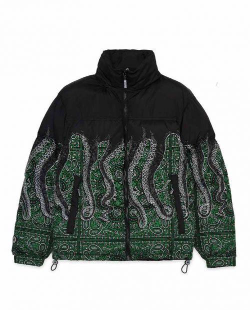 Octopus Bandana Down Jacket Black