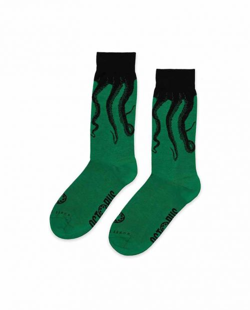 Octopus Original Socks Green Black