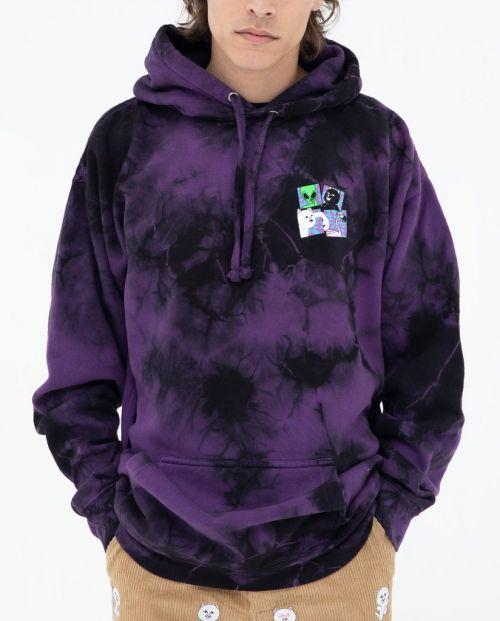 Sid Hoodie Purple Black Tie Dye