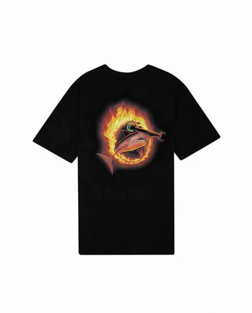 T-shirt Ring on Fire Black