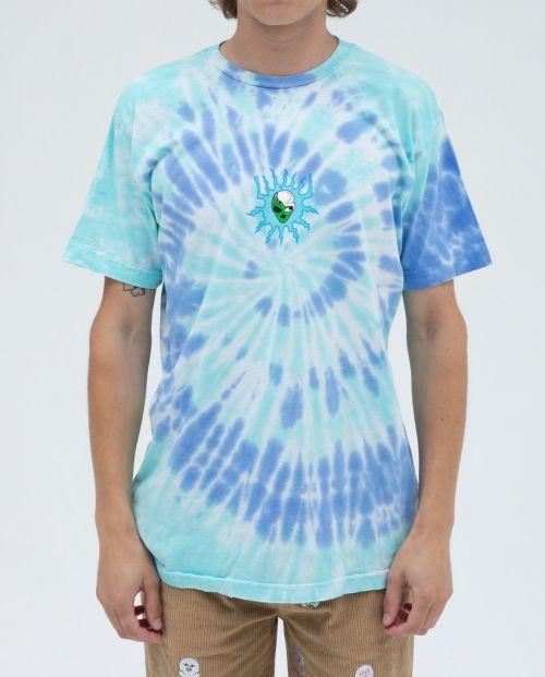 Wizar Tee Blu Aqua Spiral Dye